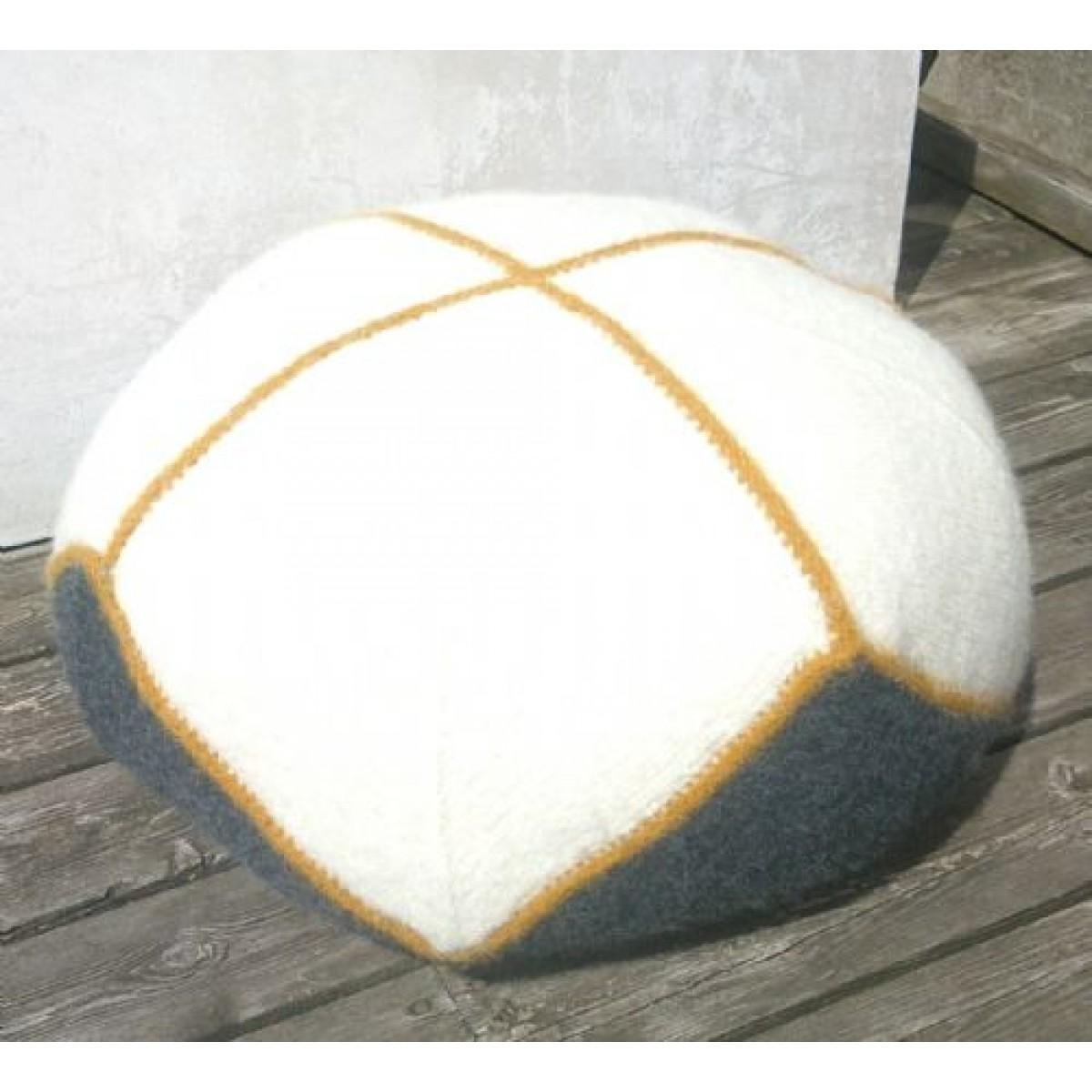 Stor Puf i filtet uld-31