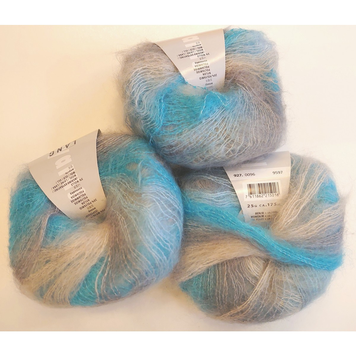 blå/grå, 9 stk