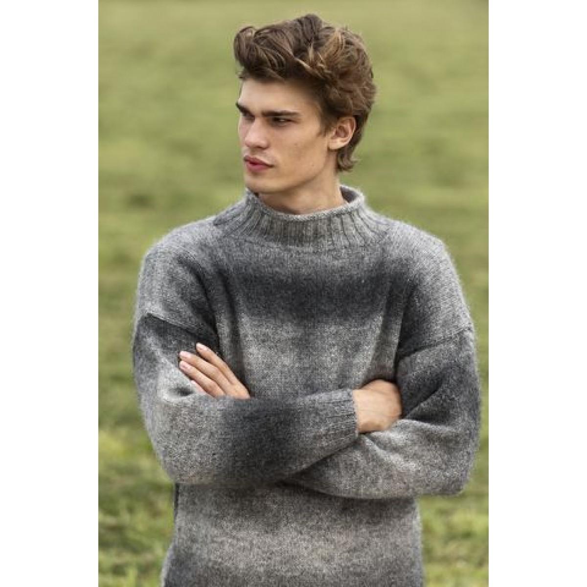 Herresweater m. ribkrave-31