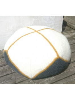 Stor Puf i filtet uld-20