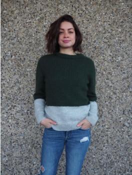 kontrastssweater