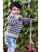 Klassisk sweater til småbørn - opskrift