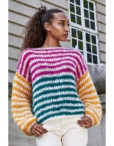 Stribet sweater