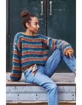 Stribet Sweater i dobbelt bella
