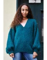 oversize sweater m v-hals