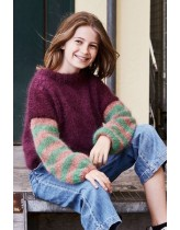 Bred, stribet sweater til piger