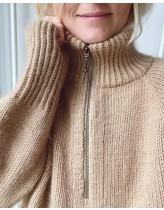 Zipper Sweater opskrift - PetiteKnit